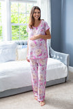 Anais Maternity Nursing Pajamas & Baby Swaddle Blanket Set