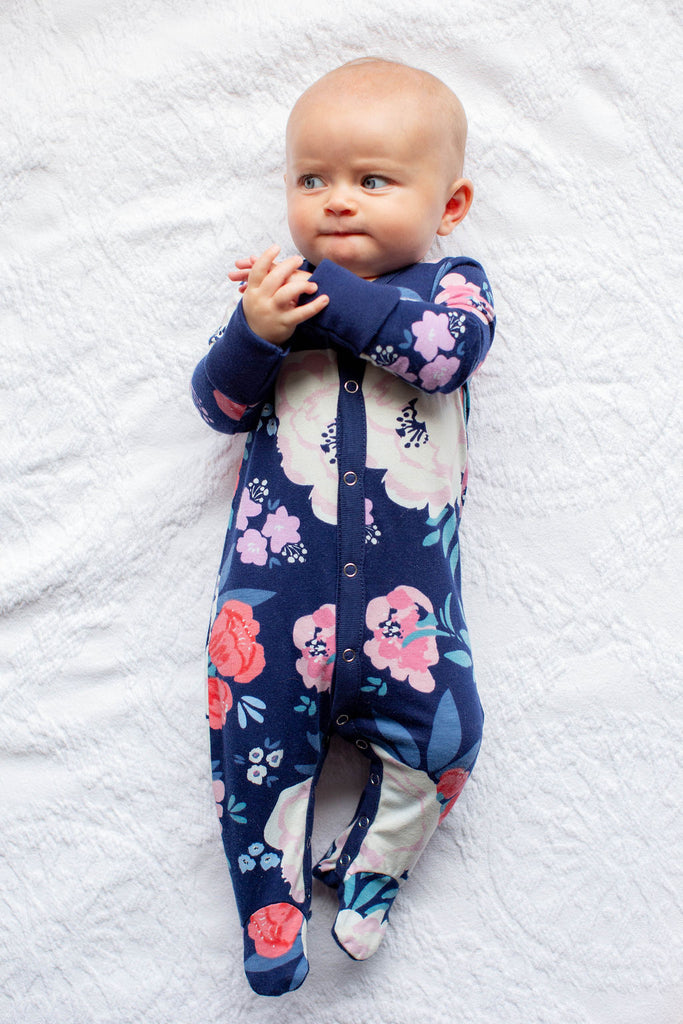 Annabelle One Piece Footed Baby Romper