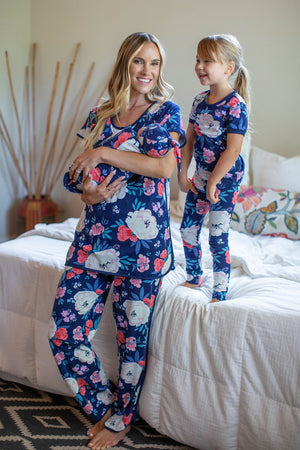 Annabelle Mom PJ's, Big Sister PJ's & Baby Swaddle Blanket Set