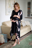 Willow Robe & Black 3 in 1 Labor Gown