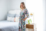 Charlotte Delivery Robe & Swaddle Blanket Set