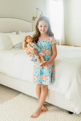 Jade Doll and Girl Dress Set