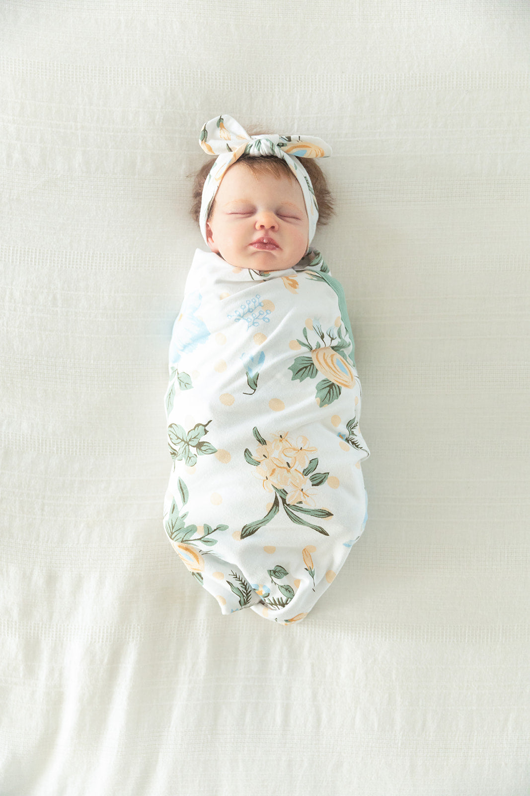 Hadley Baby Swaddle Blanket & Headband Set