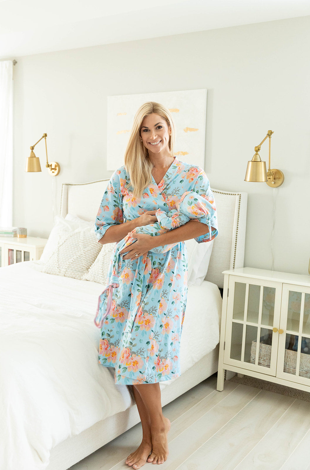 Jade Robe & Matching Knotted Baby Gown