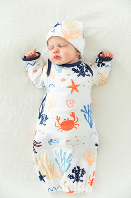 Under The Sea Baby Boy Receiving Gown Set