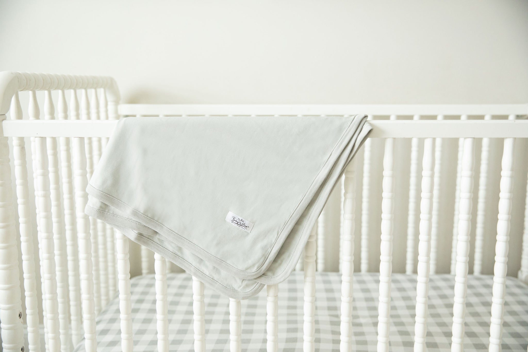 Ivy Robe & Grey Baby Swaddle Blanket Set