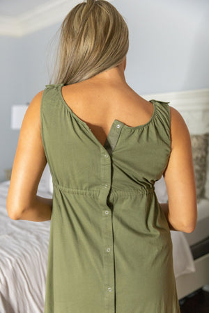 Olive Green 3 in 1 Labor and Delivery Gown