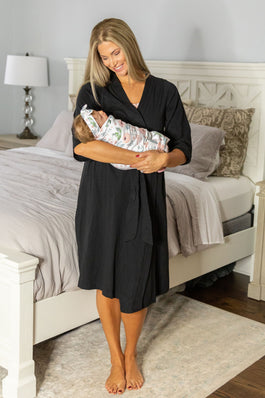 Black Robe & Ivy Swaddle Blanket Set