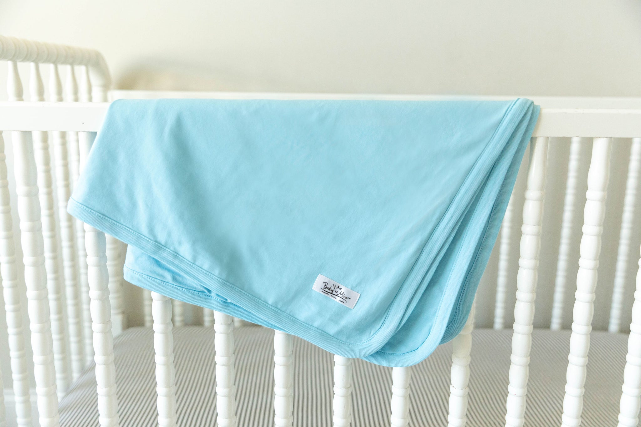 Hadley Robe & Light Blue Baby Swaddle Blanket Set