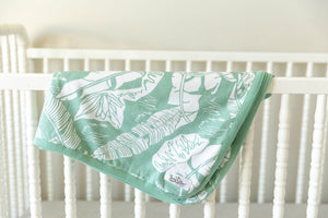 Marie Robe & Matching Baby Swaddle Blanket Set