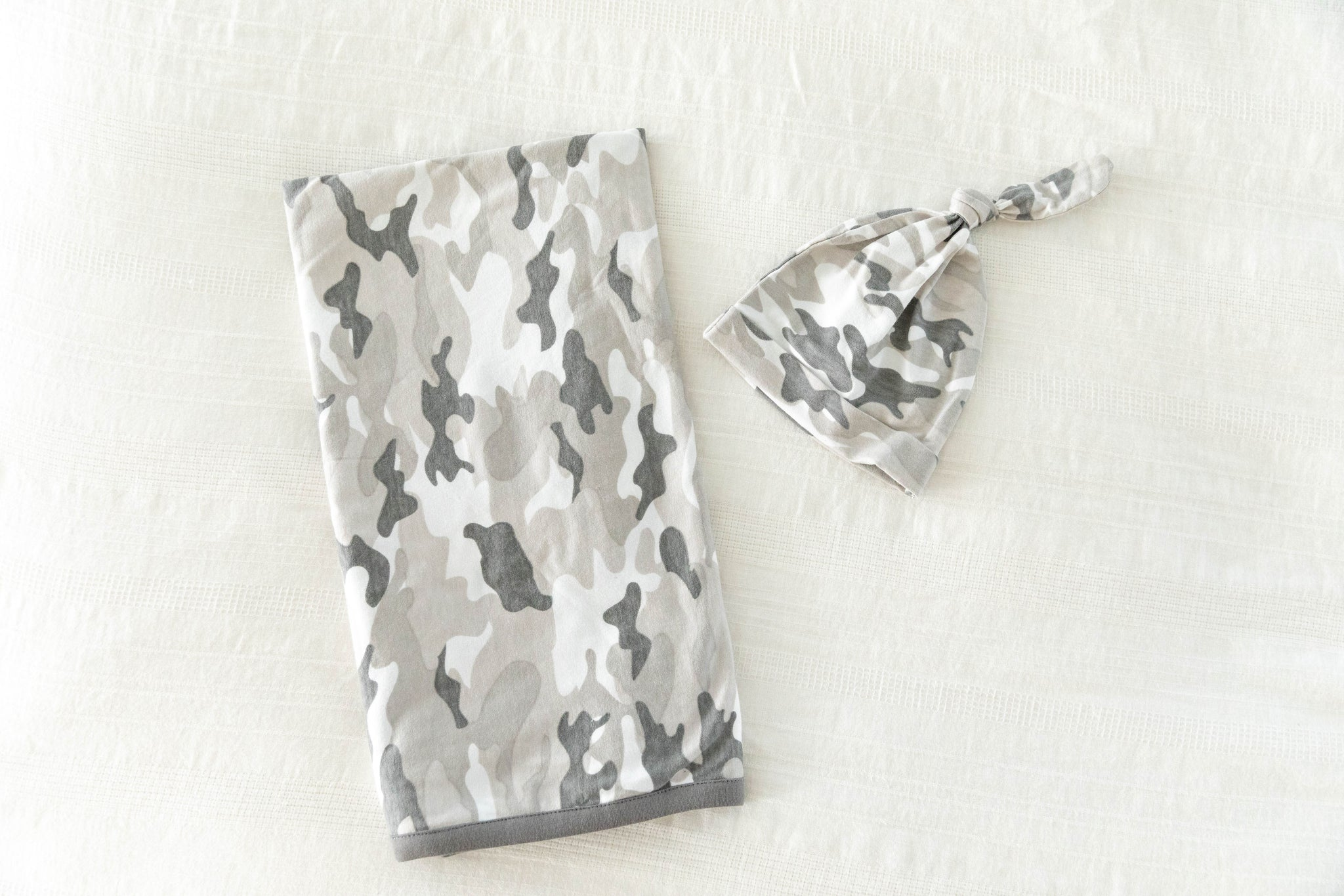 Camo Delivery Robe & Swaddle Blanket Set