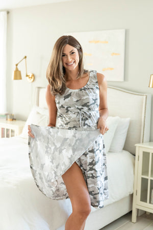 Camo 3 in 1 Maternity Labor Gown & Matching Robe
