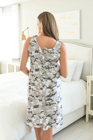 Camo 3 in 1 Labor Gown