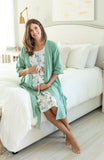 Sage Green Robe & Hadley Labor Gown Set