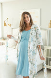 Hadley Robe & Light Blue Labor Gown