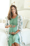 Sage labor gown and Hadley cream and blue flowered set. Buy more and save! Beautiful gift for mom.