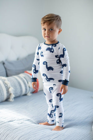 Navy Blue Dinosaur Kids Lounge Set
