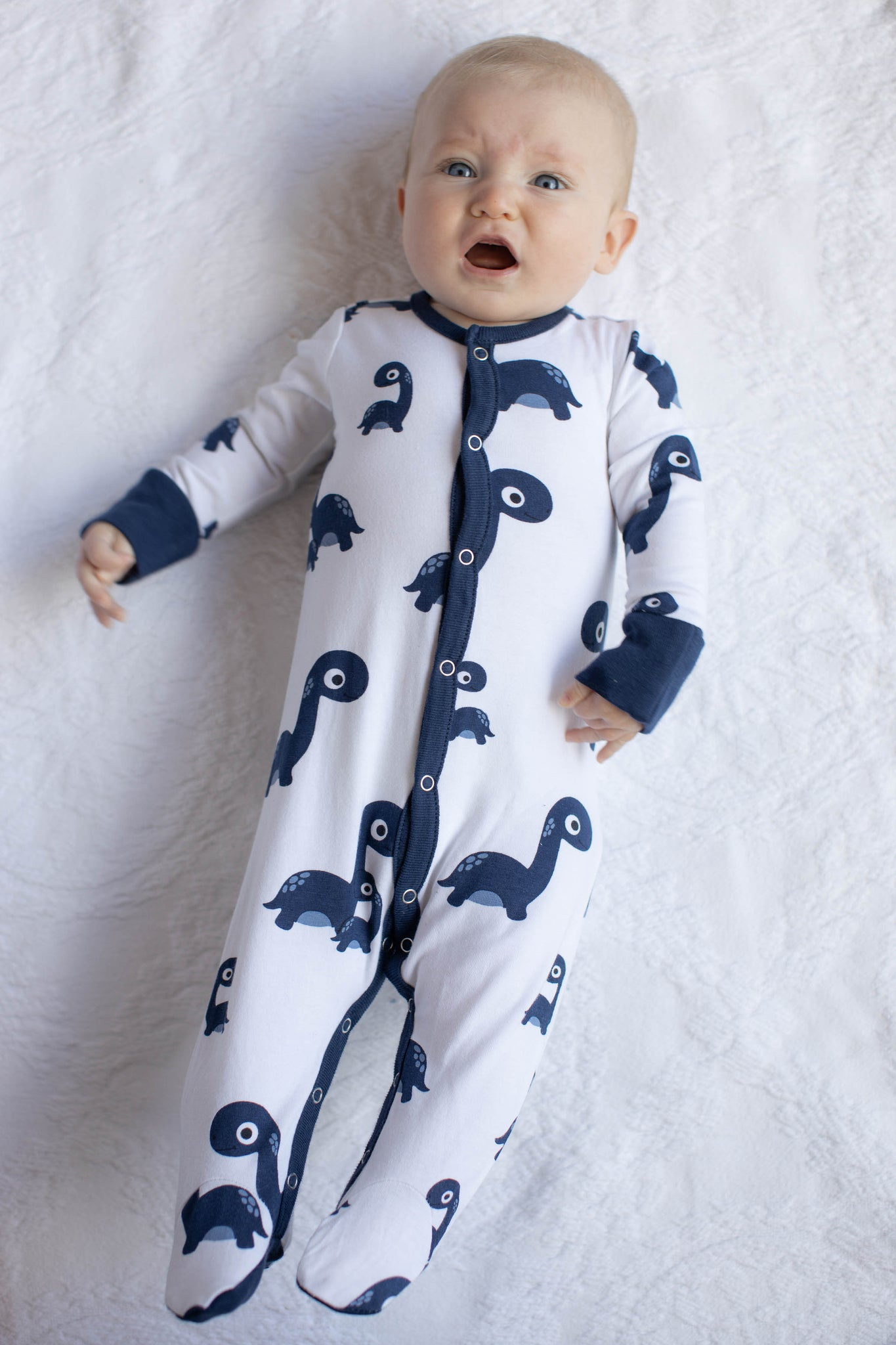 Dinosaur Baby One Piece Footed Romper