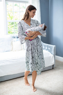 Ella Delivery Robe & Swaddle Blanket Set