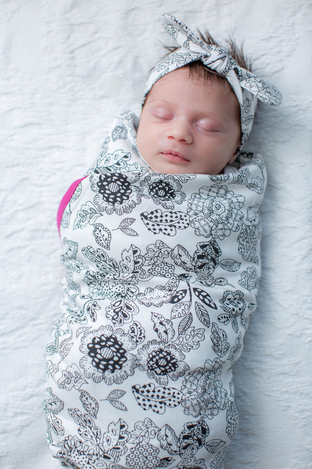 Ella Swaddle Blanket with matching Headband
