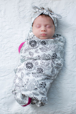 Ella Swaddle Blanket & Matching Headband