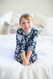 Flore Big Sister Robe & Matching Baby Girl Swaddle Blanket Set