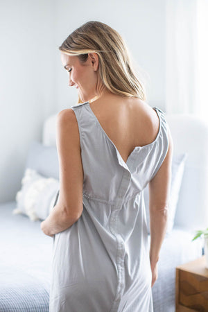 Grey Labor Gown & Sophie Delivery Robe Set