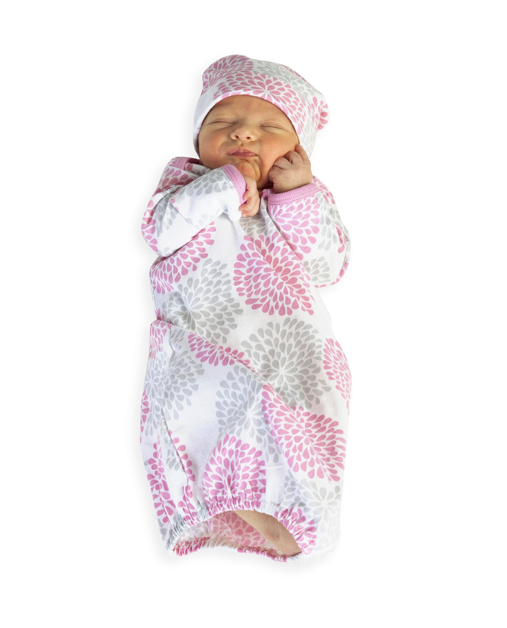 Lilly Baby Receiving Gown & Hat – Baby Be Mine