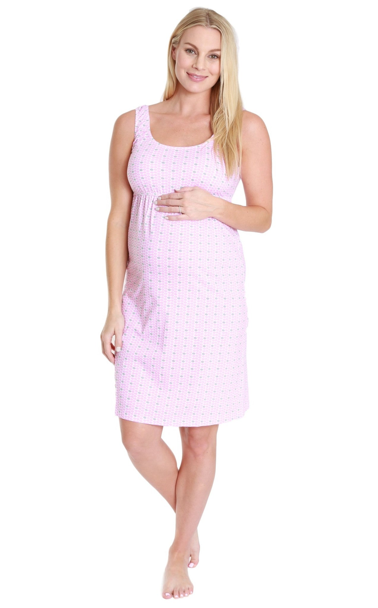 Chloe Maternity/Nursing Sleeveless Nightgown