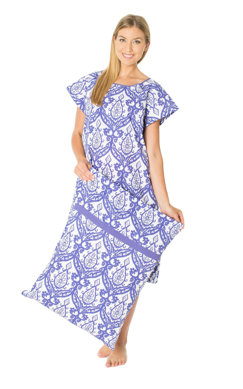 Brie Maternity Labor Delivery Hospital Gown Gownie & Matching Pillowcase Set