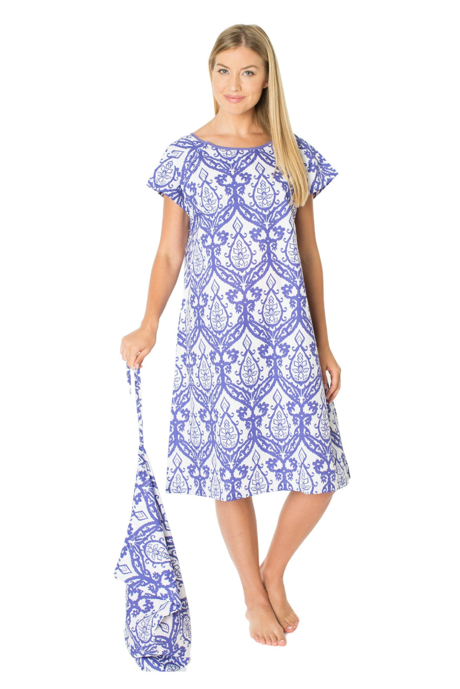 Brie Gownie Labor/ Delivery Hospital Gown & Matching Laundry Bag Set ...