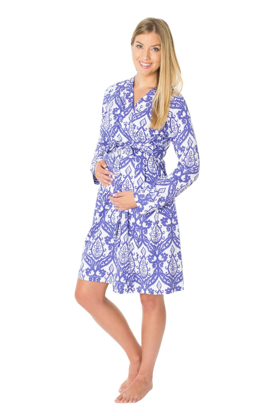 Brie Long Sleeve Maternity Nursing Delivery Robe