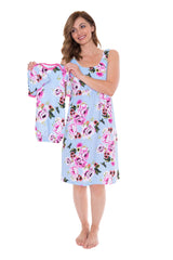 Isla Maternity/Delivery /Nursing Nightgown, Robe & Baby Receiving Gown Set