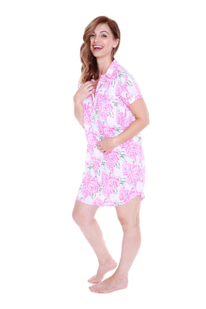 Rosalie Luxurious Soft Floral Nursing Nightshirt