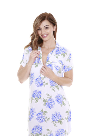 Juliette Luxurious Soft Floral Nursing Nightshirt