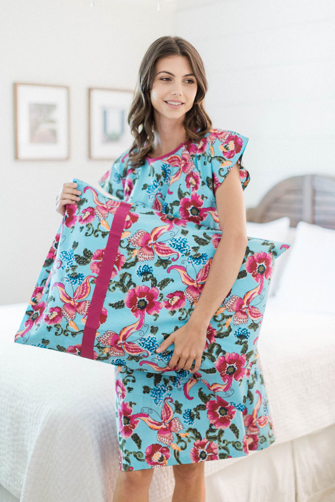 Isabelle Maternity Labor Delivery Hospital Gown Gownie & Matching Pillowcase Set