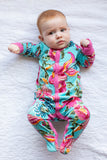 Isabelle One Piece Footed Baby Romper