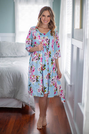 Isla Labor Gown & Matching Robe
