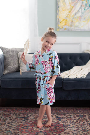 Isla Big Sister Girl Robe & Little Baby Sister Swaddle Blanket Set
