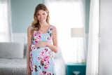 Isla Maternity Nursing Sleeveless Nightgown & Maternity Delivery Nursing Robe Set