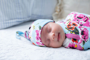 Isla Swaddle Blanket, Newborn Hat and Headband