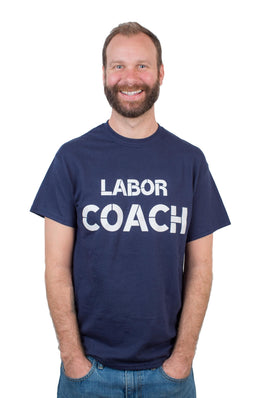 Labor Coach T shirt Navy Blue