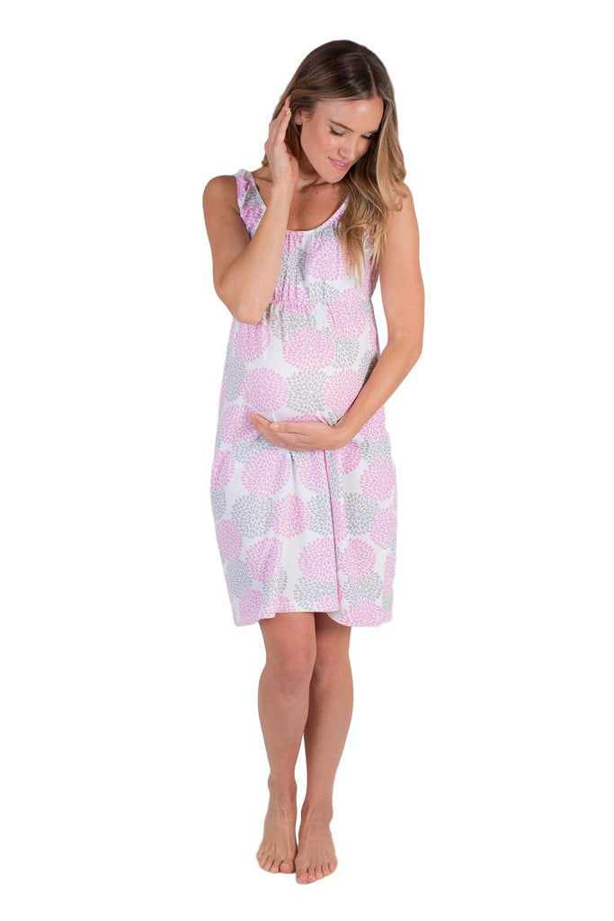 Lilly Maternity/Nursing Nightgown & Matching Baby Receiving Gown Set