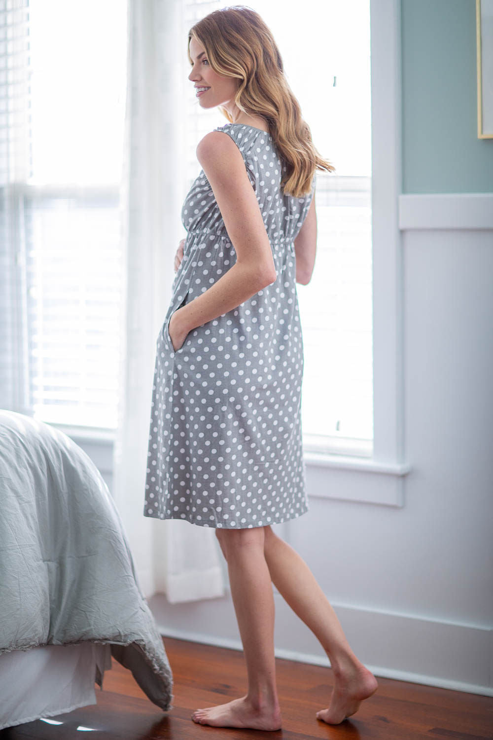Lisa Maternity/Nursing Sleeveless Nightgown