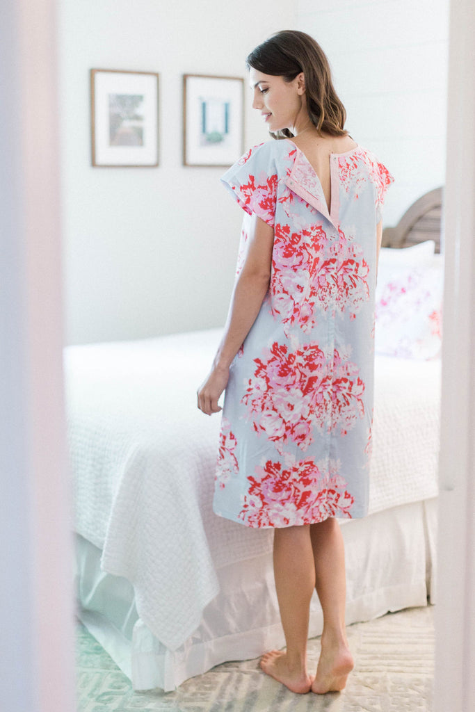 Mae Gownie & Pillowcase Set Maternity Delivery Labor Hospital Gown Floral