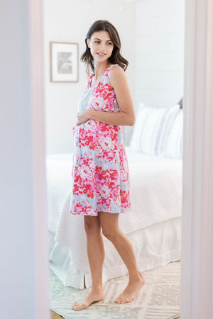 Mae 3 in 1 Labor & Delivery & Nursing Hospital Birthing Gown