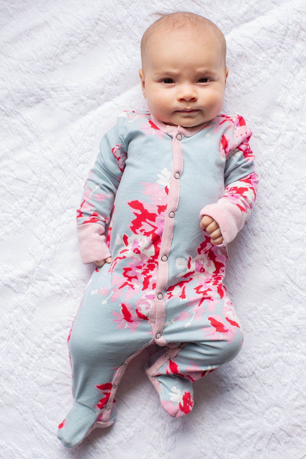 Mae Baby One Piece Footed Romper