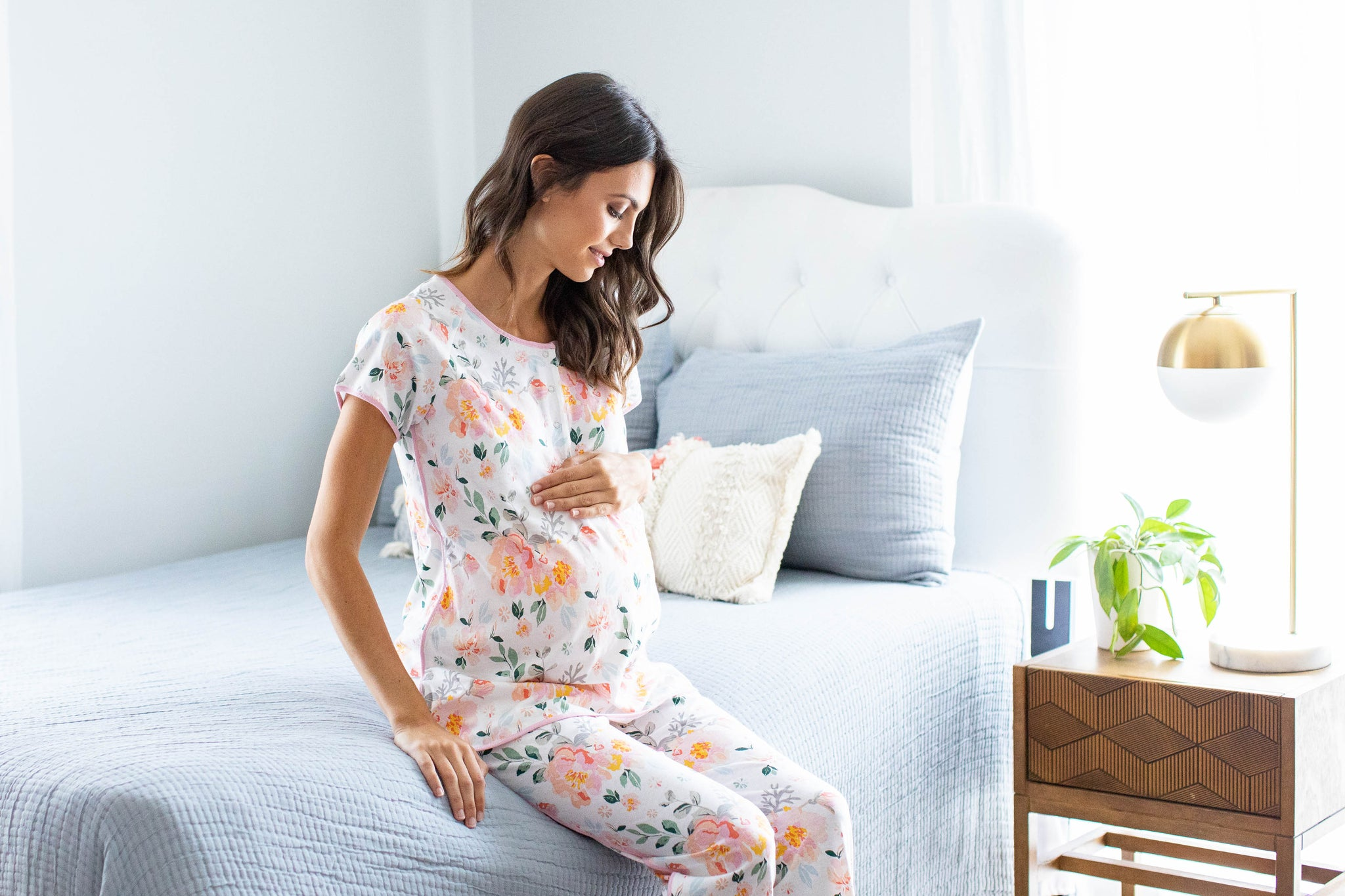Mila Maternity Nursing Pajamas & Big Sister Pajamas
