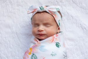 Mila Baby Swaddle Blanket & Headband Set