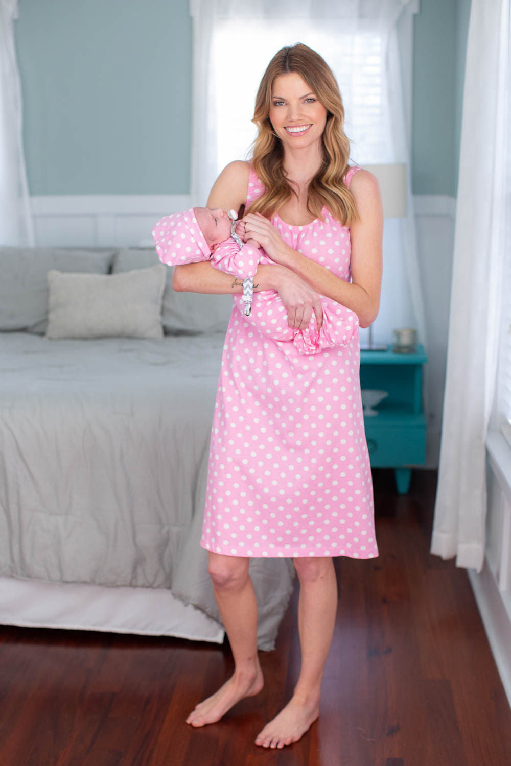 be6970a9693 Molly maternity nursing nightgown matching baby going home outfit ...